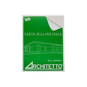 BLOCCHI CARTA MILLIMETRATA ARCHITETTO A3