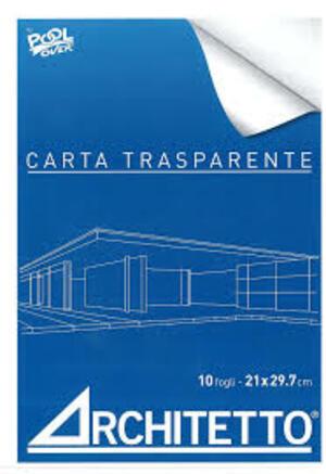 BLOCCHI CARTA TRASPARENTE ARCHITETTO A4