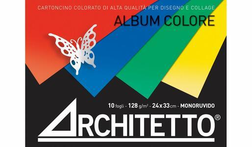 ALBUM DA DISEGNO  ARCHITETTO CON FOGLI COLORATI