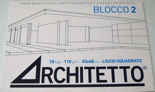 ALBUM DA DISEGNO BLOCCO 2 ARCHITETTO LISCIO SQUADRATO 33x48
