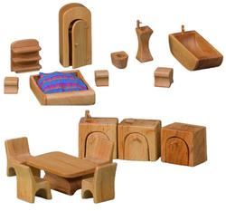 Mobili Kit per la Casa delle Bambole Tonda