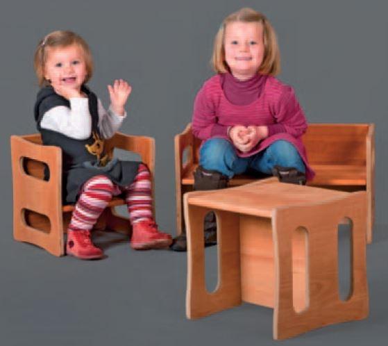 Sgabello regolabile per bambini in legno massello - Sedia bambini regolabile ...