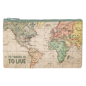 """POCHETTE FUNKY COLLECTION """"TO TRAVEL IS TO LIVE"""" LEGAMI"""