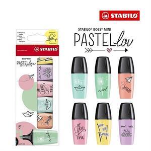 Evidenziatore STABILO BOSS MINI Pastellove. Astuccio 6 colori. 07/06-27