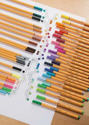 Penna fineliner STABILO point 88 Colori Neon - Scegli il colore