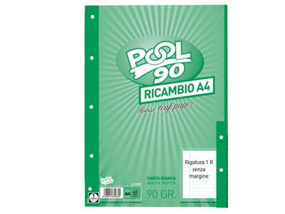 RICAMBI A4 40 FOGLI 90 GR 1R POOL OVER