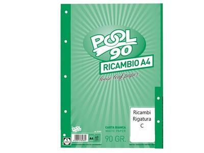 RICAMBI A4 40 FOGLI 90 GR RIG. C POOL OVER