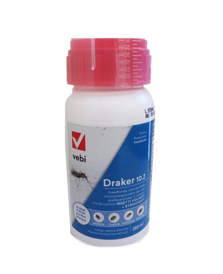 Draker 10.2 flacone 250 ml Insetticida microincapsulato ad azione abbattente e residuale.