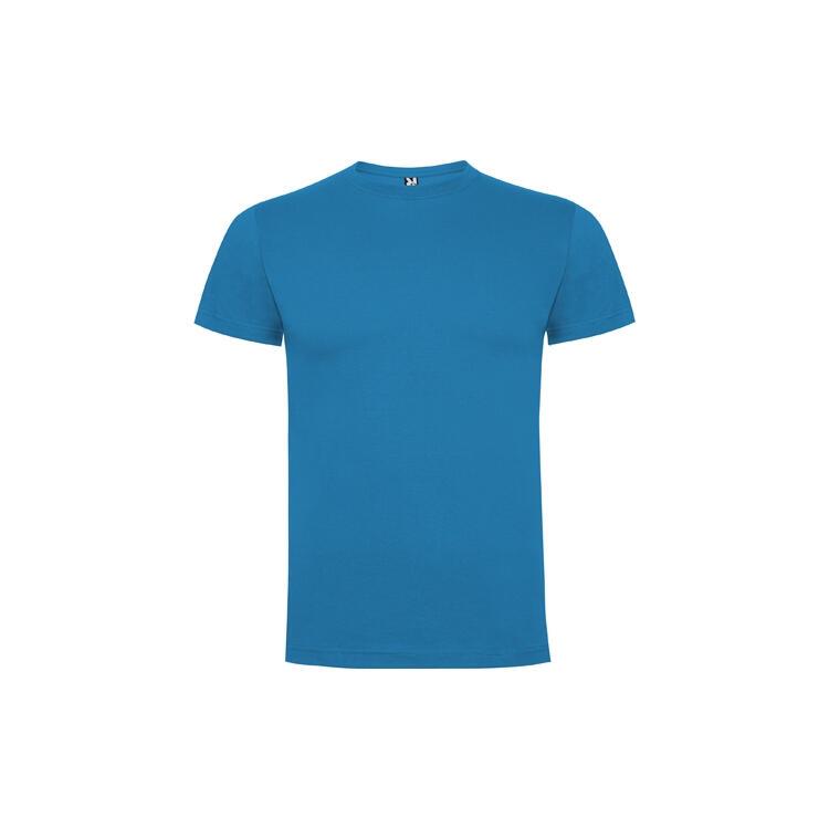 T-shirt blù oceano colore 100 mezza manica