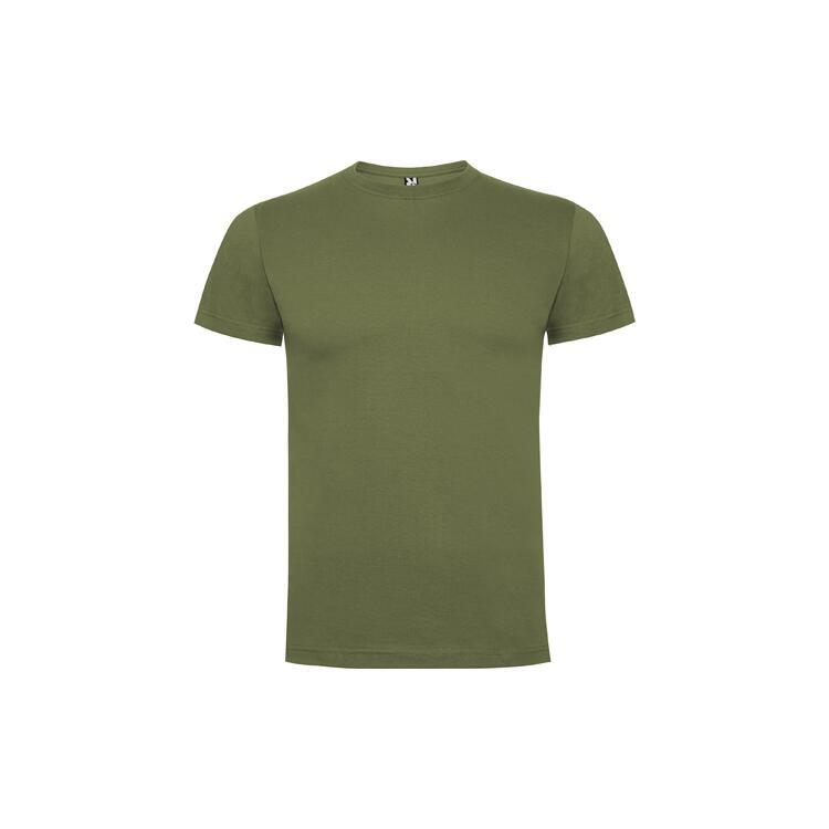 T-shirt verde militare colore 15 mezza manica