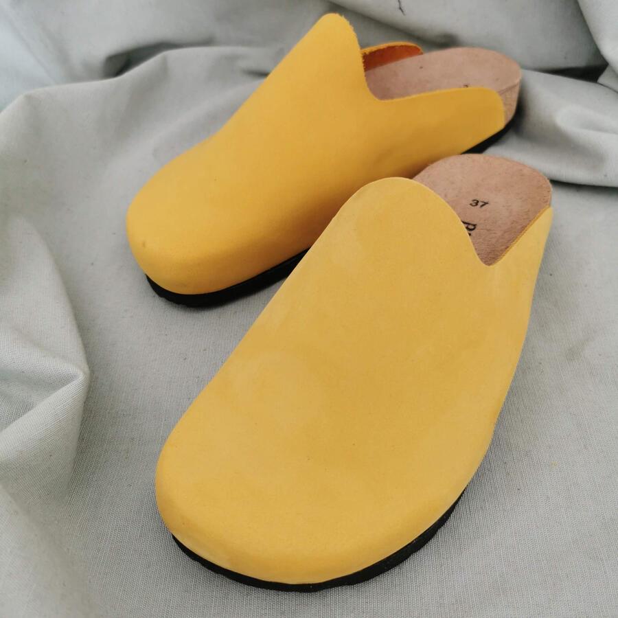 Ciabatta sabot - giallo ocra