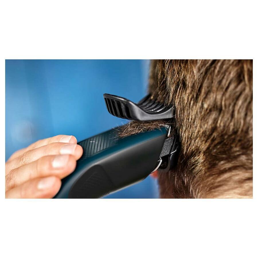 PHILIPS Series 3000 HC3505/15 Regolacapelli Elettrico DualCut Colore Nero / Blu