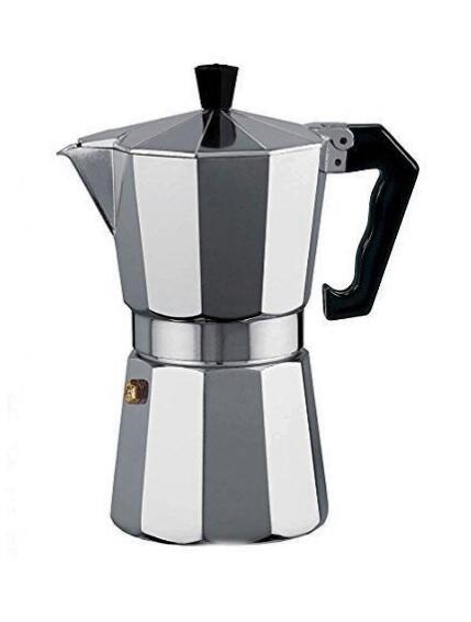Caffettiera Classica Macchina del Caffe' Moka 1/2 Tazza in Alluminio Espresso Napoletano