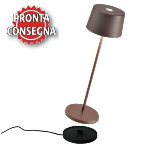 Lampada Ricaricabile da Tavolo OLIVIA PRO di Zafferano in Metallo, Varie Finiture - Offerta di Mondo Luce 24