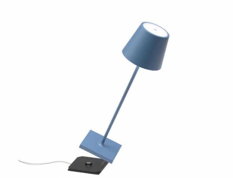Lampada Ricaricabile da Tavolo POLDINA PRO di Zafferano in Metallo, Varie Finiture - Offerta di Mondo Luce 24