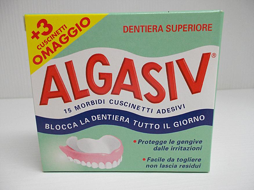 ALGASIV Cuscinetti Adesivi per protesi SUPERIORE
