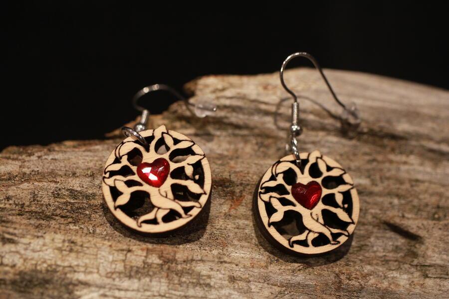 orecchini albero della vita cuore