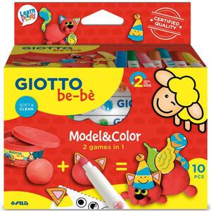 """MODEL & COLOR 2 GIOCHI IN 1 """"GATTINO"""" GIOTTO BE-BE' FILA"""