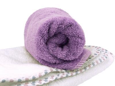 Asciugamano Neonati e Bambini 65x75 cm Lilla