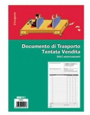 DOCUMENTO DI TRASPORTO TENTATA VENDITA 50 X 2 AUTORICALCANTI E5220C EDIPRO