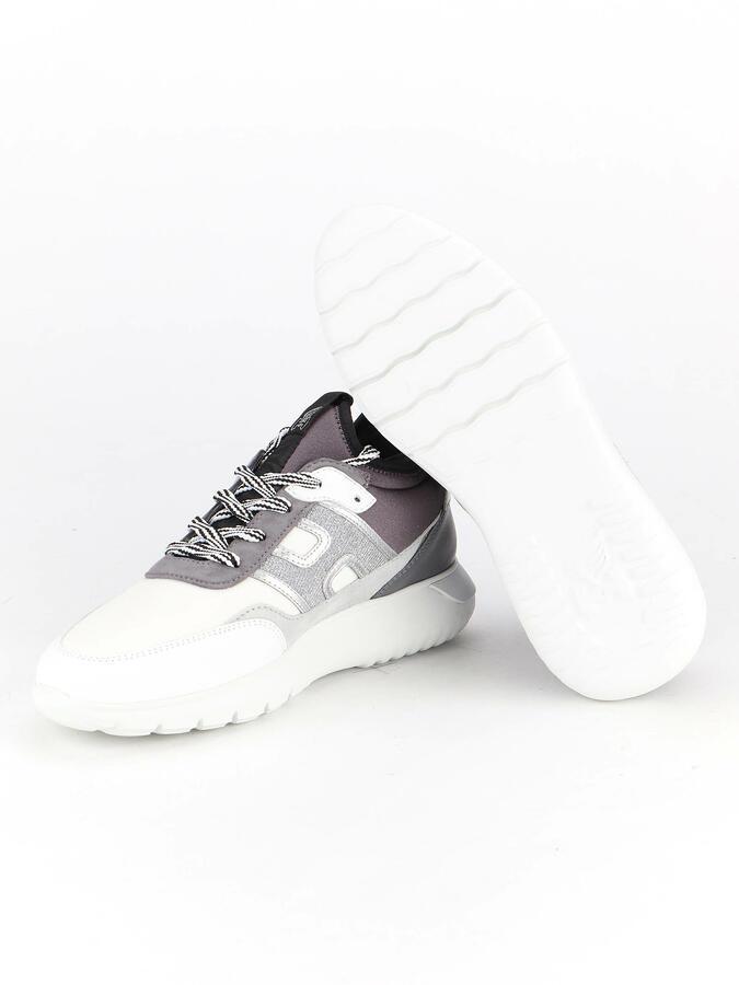 Sneakers Hogan Interactive slipon bianca e grigia da donna HXW3710DC90OEV0PTQ