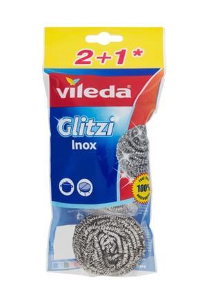 Vileda Glitzi Paglietta a Spirale 2+1, Inox, 3 Pezzi