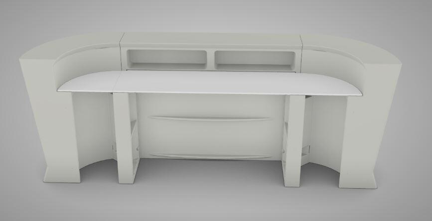 Ripiano Rettangolare HPL 150 cm per Bancone MARVY al LED di Lyxo Design - Offerta di Mondo Luce 24