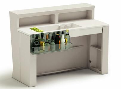 Cocktail Station con Divisori Rimovibili per Bancone MARVY al LED di Lyxo Design - Offerta di Mondo Luce 24