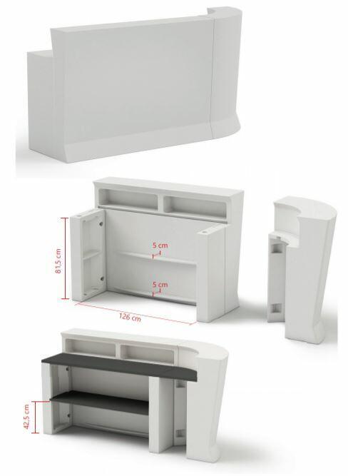 Ripiano Angolare HPL 43 cm per Bancone MARVY al LED di Lyxo Design - Offerta di Mondo Luce 24
