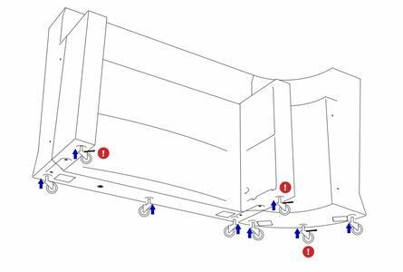 Kit Ruote da 3 o 5 pz per Bancone MARVY al LED di Lyxo Design - Offerta di Mondo Luce 24