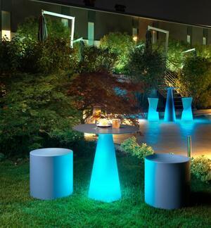 Gamba Tavolo TIFFANY con Luce al LED in Polietilene di Lyxo Design, Varie Misure - Offerta di Mondo Luce 24