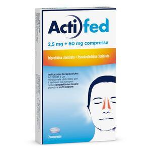 ACTIFED 2,5 mg + 60 mg compresse
