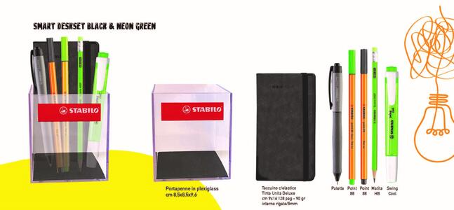 SMART DESKSET BLACK & NEON GREEN
