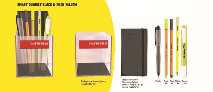 SMART DESKSET BLACK & NEON YELLOW