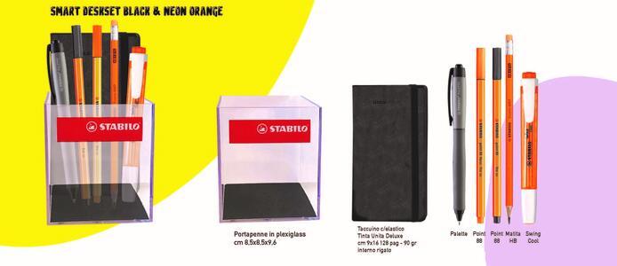 SMART DESKSET BLACK & NEON ORANGE