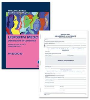 BLOCCO DICHIARAZIONE DI CONFORMITA' PER DISPOSITIVI MEDICI AUTORICALCANTE - BUFFETTI 6422D0033