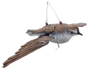 Stampo allodola ali girevoli con interruttore sotto la pancia