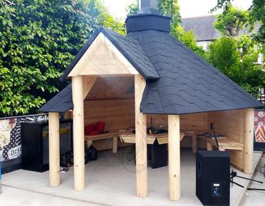 Open Grill Cabin 9,2mq - 45mm - Incluso Grill e Camino standard