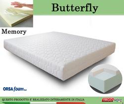 Materasso Memory Mod. Butterfly Matrimoniale da Cm 160x190/195/200 Anallergico Sfoderabile Altezza Cm. 21 - Ergorelax