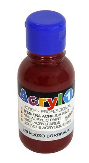 COLORE ACRILICO FINE PRIMO ACRYL 1 ROSSO BORDEAUX 125 ML CMP