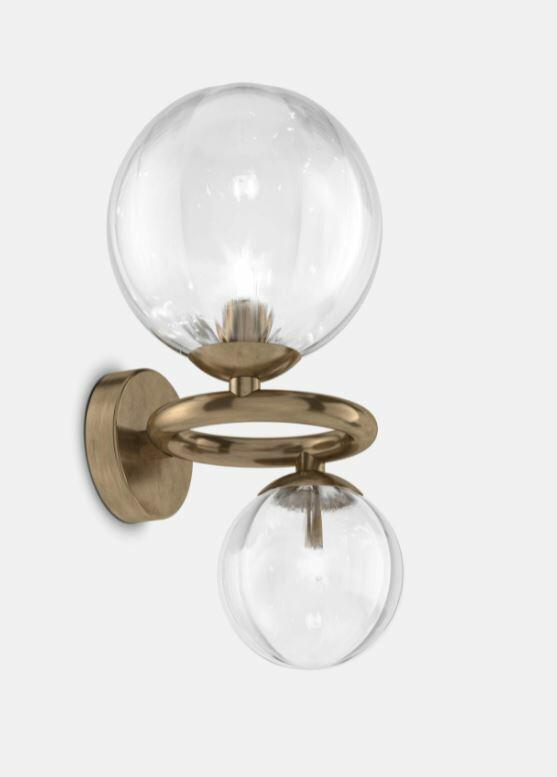 Lampada a Parete PUPPET RING in Cristallo di Vetreria Vistosi, Varie Finiture - Offerta di Mondo Luce 24