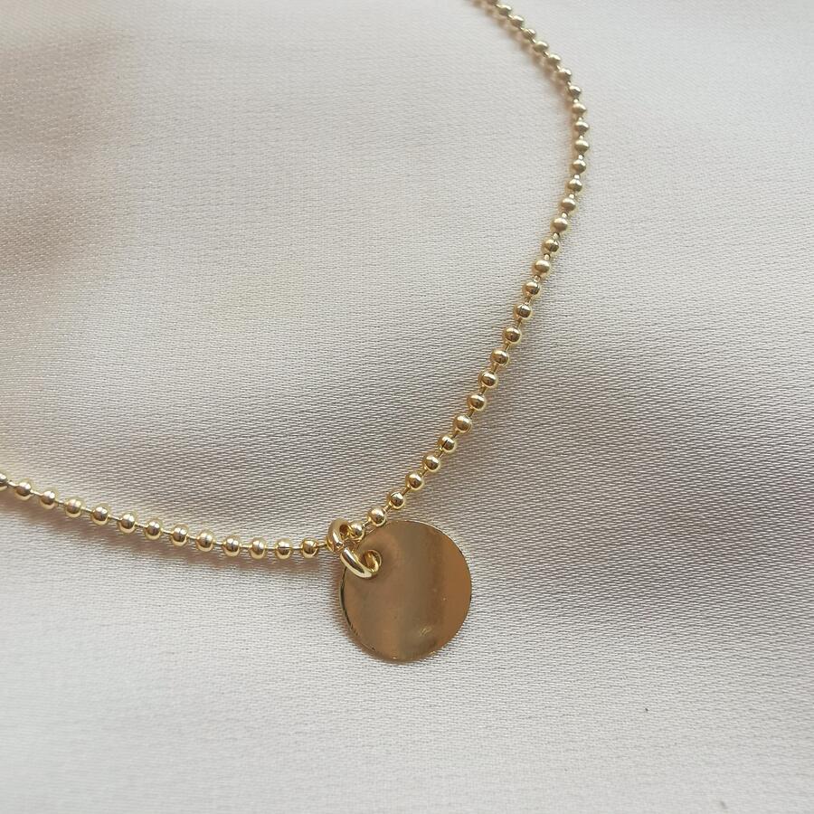 Cavigliera in gold filled con medaglietta
