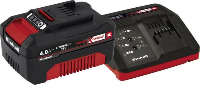 Starter Kit Batteria  4AH + Caricabatteria Einhell Power X-Change