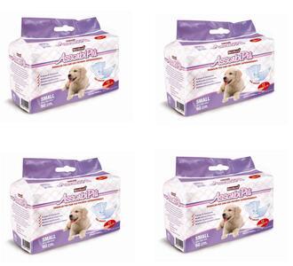 72 Pannolini a Mutandina Per Cani Large S Maschi Femmine Elasticizzati 6 Pacchi da 12