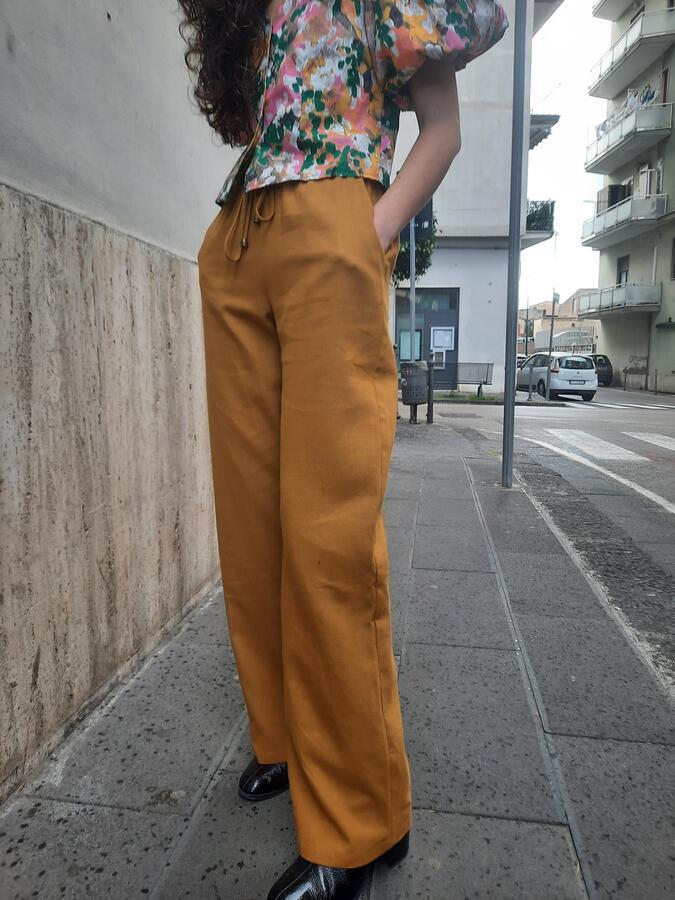 Pantalone senape