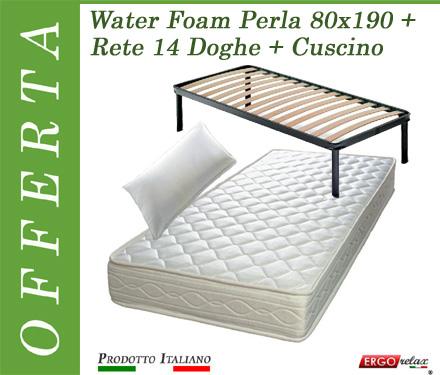 Ergorelax Materasso Water Foam Mod Perla 2013 Poliuretano Espanso NO CFC Altezza Cm 17 singolo 80 cm x 190 cm