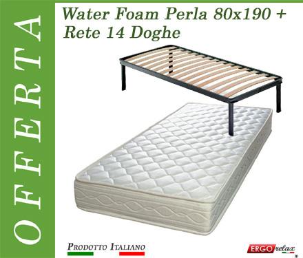 Offerta Water Foam Perla + Rete 14 Doghe 80x190 - Ergorelax Occasione