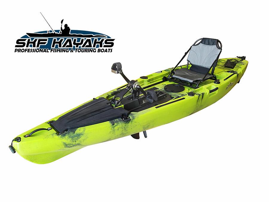 SKF Pedal Power 12 - Kayak da pesca a pedali con elica o pinne - 360 cm - completo accessori