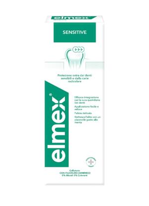Elmex Collutorio Sensitive, Protezione Extra dai Denti Sensibili e dalla Carie Radicolare, 1 Flacone da 400ml