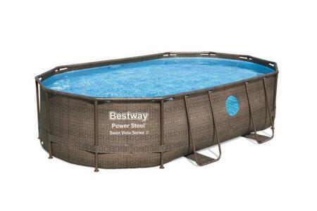 Piscina Power Steel Swim Vista Bestway 4.88m x 3.05m x 1.07m Oval Set